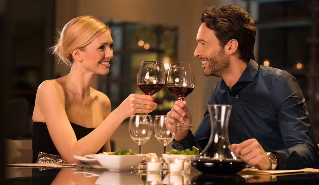 A dinnerdate is often booked by our escortservice in The Netherlands