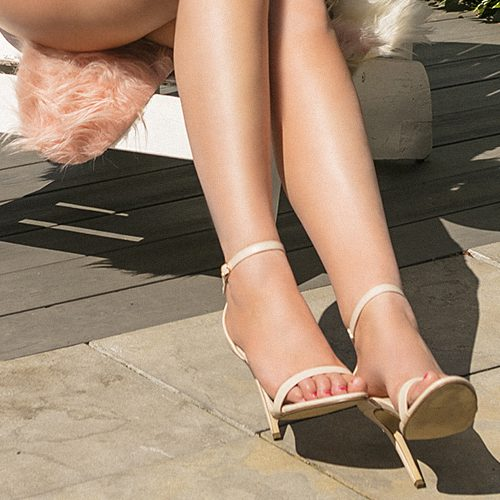 High class escort Celine has beautiful feet which are perfect for foot fetish play